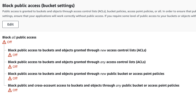 Security issues when creating an S3 bucket with Terraform - public access on all buckets is enabled